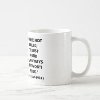 Thomas Edison Not Failed 10,000 Ways Won't Work Coffee Mug