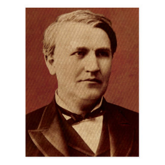 Thomas Edison Portrait Postcard
