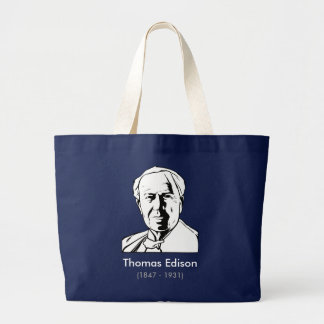 Thomas Edison - real genius Jumbo Tote Bag