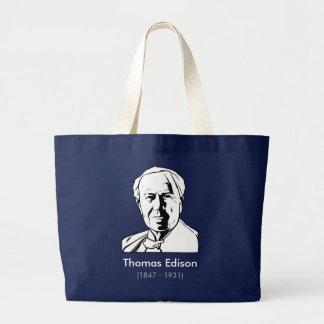 Thomas Edison - real genius Canvas Bags