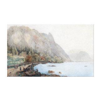 Thomas Ender Mountain Landscape Lake Atter Austria Canvas Print