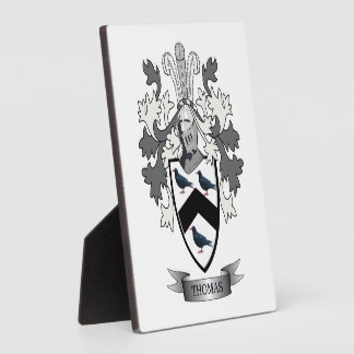 Thomas Family Crest Plaque