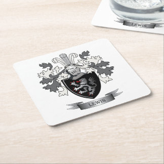Thomas Family Crest Square Paper Coaster