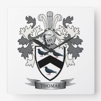 Thomas Family Crest Wall Clocks