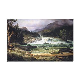 Thomas Fearnley The Labro Falls at Kongsberg Canvas Print