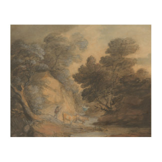 Thomas Gainsborough - Cattle Watering by a Stream Wood Print