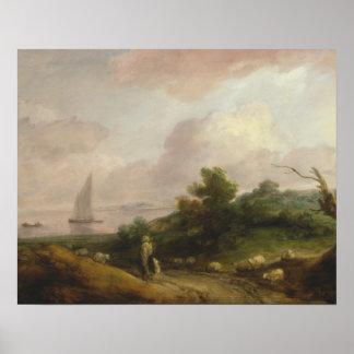 Thomas Gainsborough - Coastal Landscape Poster