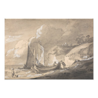 Thomas Gainsborough - Coastal Scene with Figures Photograph