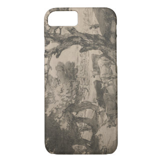 Thomas Gainsborough - Wooded Landscape with Herdsm iPhone 7 Case