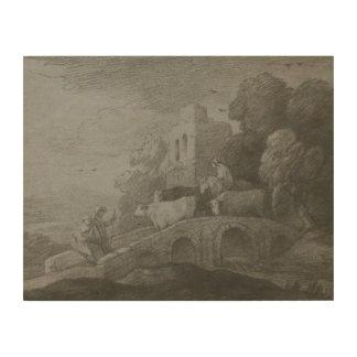Thomas Gainsborough - Wooded Landscape Wood Print