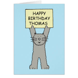 Thomas Happy Birthday Greeting Card
