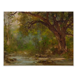 THOMAS HILL (1829-1908) Brook Scene Poster