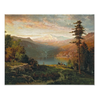 Thomas Hill - Indian by a Lake in a Majestic Art Photo