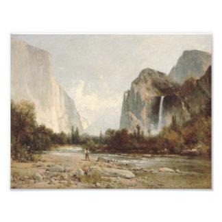 Thomas Hill - Yosemite, Bridal Veil Falls Photographic Print