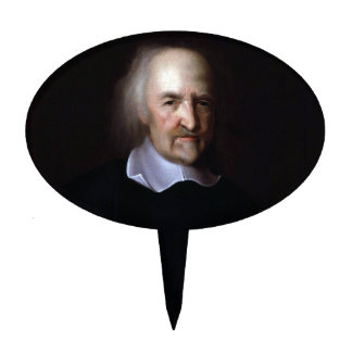 Thomas Hobbes by John Michael Wright Cake Toppers