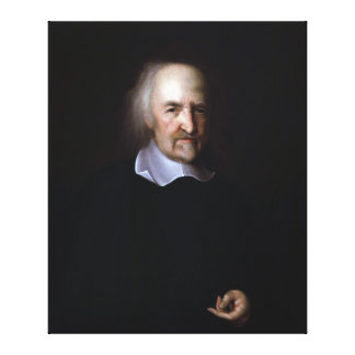 Thomas Hobbes by John Michael Wright Canvas Print