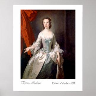 Thomas Hudson Portrait of a Lady Art Print