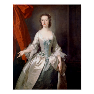 Thomas Hudson Portrait of a Lady Fine Art Poster