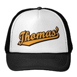 Thomas' in Orange Mesh Hat