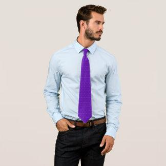 Thomas Indigo Ribbed Ornate Jacquard Star Pattern Tie