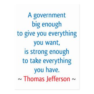 Thomas Jefferson #1 Post Card
