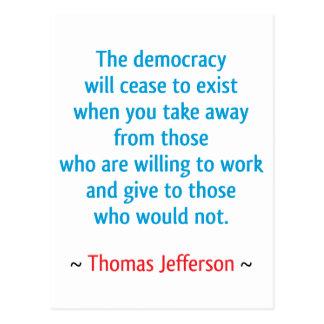 Thomas Jefferson #2 Postcard