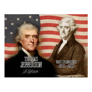 Thomas Jefferson  - 3rd President of the U.S. Postcard