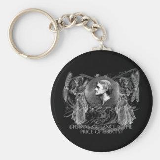 Thomas Jefferson a Hero on Eternal Vigilance Basic Round Button Key Ring