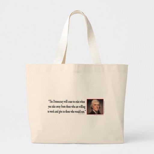 Thomas Jefferson Canvas Bag