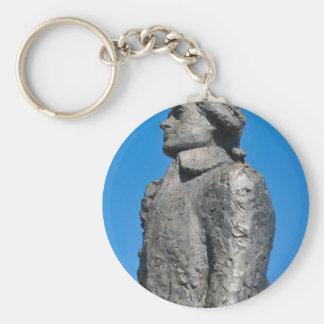 Thomas Jefferson Basic Round Button Key Ring