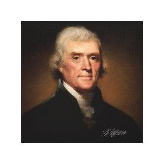 Thomas Jefferson by Rembrandt Peale. Signature. Canvas Print