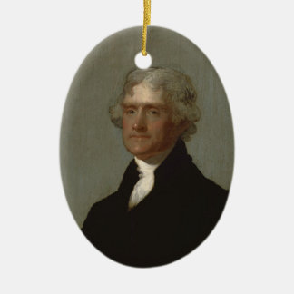 Thomas Jefferson Ceramic Ornament