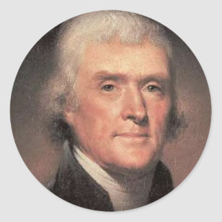Thomas Jefferson Classic Round Sticker