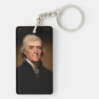 Thomas Jefferson Double-Sided Rectangular Acrylic Key Ring