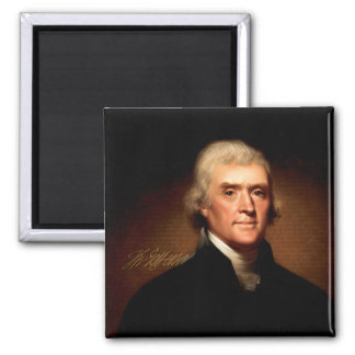 Thomas Jefferson, Founding Father Square Magnet