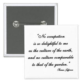 Thomas Jefferson Garden Quote Button