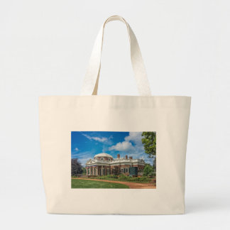 Thomas Jefferson Home at Monticello Canvas Bags