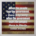 Thomas Jefferson: Liberty vs. Tyranny Poster