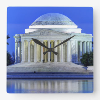 Thomas Jefferson Memorial At Night Clock