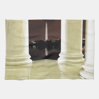 Thomas Jefferson Memorial At Night Tea Towel