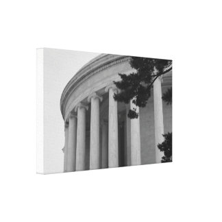 Thomas Jefferson Memorial pillars photo canvas Canvas Print