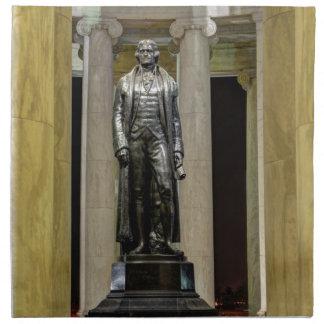 Thomas Jefferson Memorial Statue At Night Napkin