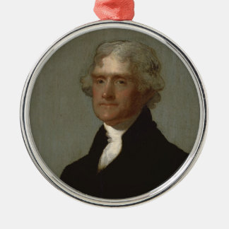 Thomas Jefferson Metal Ornament