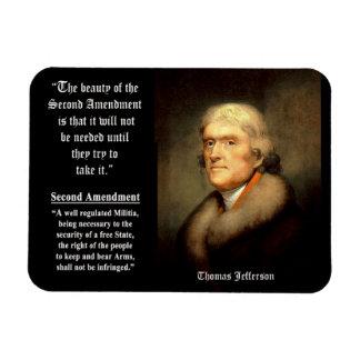 Thomas Jefferson On The 2nd Amendment Rectangle Magnet