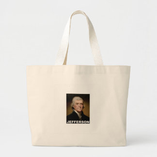Thomas Jefferson picture Large Tote Bag