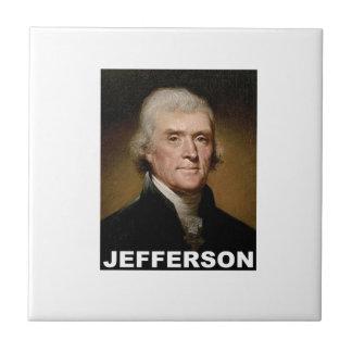 Thomas Jefferson picture Small Square Tile