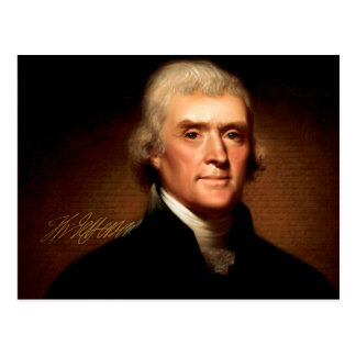 Thomas Jefferson Portrait Postcard