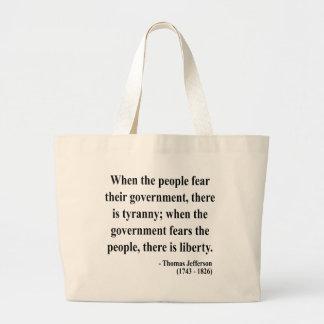 Thomas Jefferson Quote 5a Jumbo Tote Bag