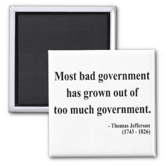 Thomas Jefferson Quote 7a Square Magnet