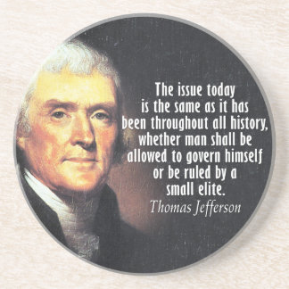 Thomas Jefferson Quote Coaster
